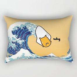 gudetama's great wave Rectangular Pillow
