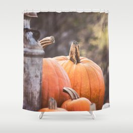 pumpkins + milk cans Shower Curtain