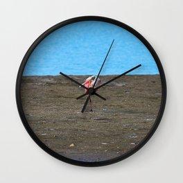 A Single Spoonbill Wall Clock