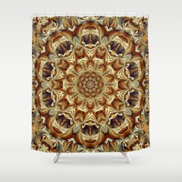 Flower Of Life Mandala (Primitive) Shower Curtain