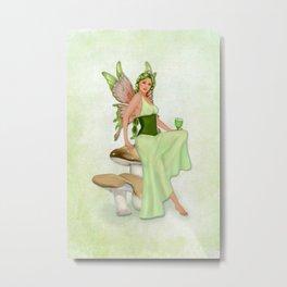 Absinthe the Green Fairy Metal Print