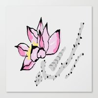 lotus Canvas Prints featuring Lotus by Vitta