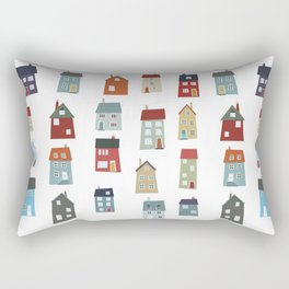 Little Houses Rectangular Pillow