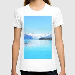Terrace 4k blue lake mountains British Columbia Canada T-shirt