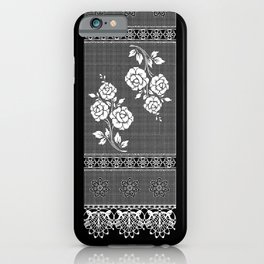 Grandmother flowers iPhone Case