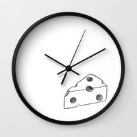 cheese Wall Clocks featuring Cheese by ToppArt