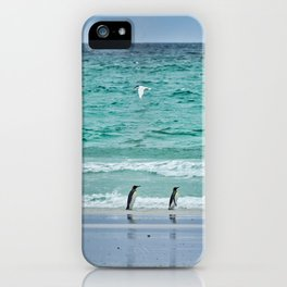 Falkland Island Seascape with Penguins iPhone Case
