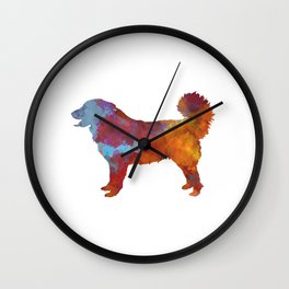 Yugoslavian Shepherd Dog in watercolor Wall Clock
