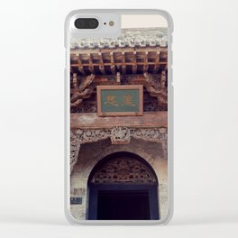 Traditional Gates Clear iPhone Case
