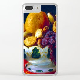 Lilly Martin Spencer Oranges Nuts and Figs Clear iPhone Case