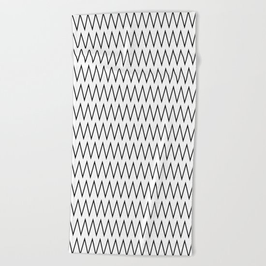 Minimalist Chevron Beach Towel