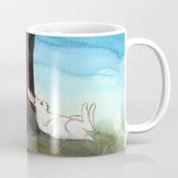 moonrise Mugs featuring Moonrise by Bluedogrose