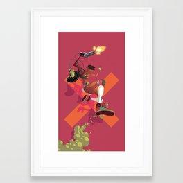 Gun Totting Girl Framed Art Print