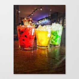 Cocktails and Fairy Lights Canvas Print