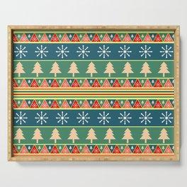 Christmas pattern II Serving Tray