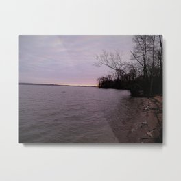 a cold wintery am on james river Metal Print
