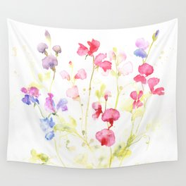 Sweet Peas Please Wall Tapestry