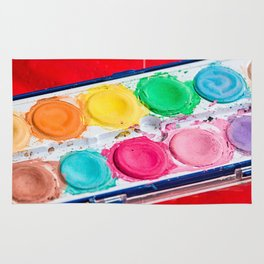Artist Paint Box Colorful Palette Rug