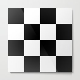 Checkers Metal Print