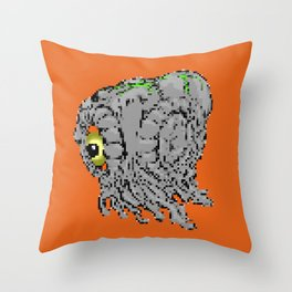 battle damaged hedorah Throw Pillow