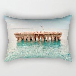 Crash Boat Beach Rectangular Pillow