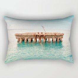 Crash Boat Beach Rectangular Pillow