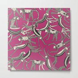 monkey pink Metal Print