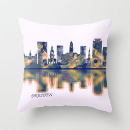 Dresden Skyline Throw Pillow