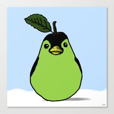Penguin + Pear = Pearguin  Canvas Print