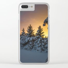 Winter Sunset 2 Clear iPhone Case