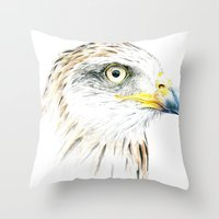 animal crew Throw Pillows featuring Animal by Andreas Derebucha