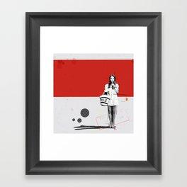 June | Collage Framed Art Print