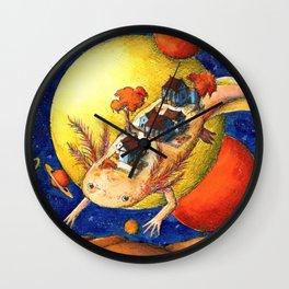 Axolotl Village Wall Clock