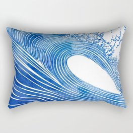 Blue Wave Rectangular Pillow