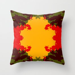 Colorful Abstract Decorative Boho Chic Style Mandala - Ichiaka Throw Pillow