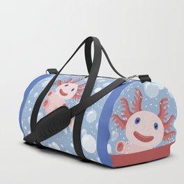 Cute Axolotl and The Bubbles Duffle Bag