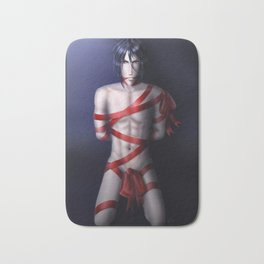 Wrapped Up In Red (covered version) Bath Mat