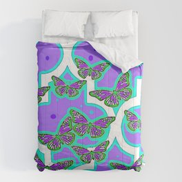 Lavender Artistic Butterfly day Dreams Comforters