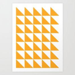 Geometric Pattern 01 Yellow Art Print