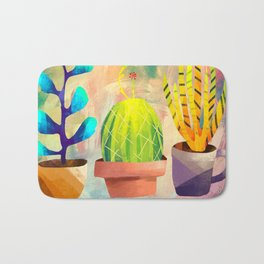 Cactus Friends Bath Mat