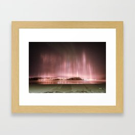 Kirkenes by night Framed Art Print