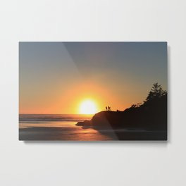 Sunset in Clayoquot Sound, Tofino Metal Print