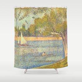 "Georges Seurat ""The Seine at La Grande Jatte"" Shower Curtain"