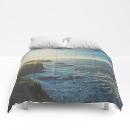 I Will Come Back But First... // Landscape // Edge of Cliff Photography #society6 #art #prints Comforters