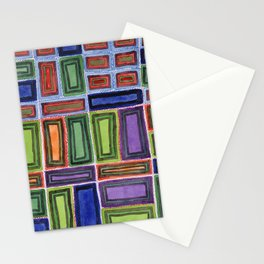 Melodic Rectangles Pattern Stationery Cards
