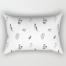 Little botanics black&white Rectangular Pillow