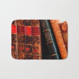 Rustic Antique Library Books Shelf Bath Mat