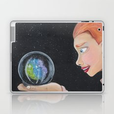 Galaxy in a crystal ball Laptop & iPad Skin