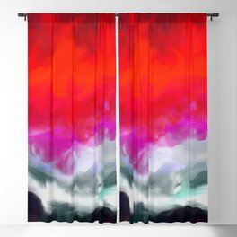 Abstract in Red, White and Purple Blackout Curtain