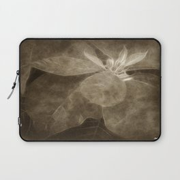 Mottled Red Poinsettia 1 Ephemeral Antiqued Laptop Sleeve
